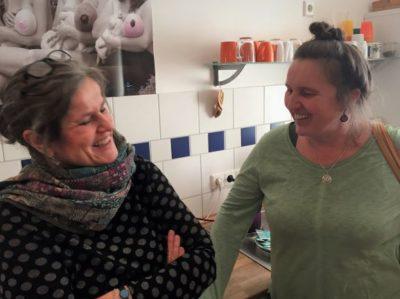 Referenten Ulrike Lau-Rollbühler und Erika Schießl